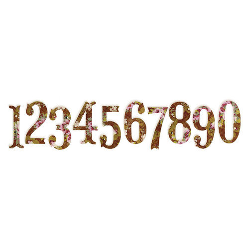Sizzix - Sizzlits Die - Antiqua Numbers