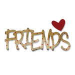Sizzix - Sizzlits Die - Medium - Phrase, Friends