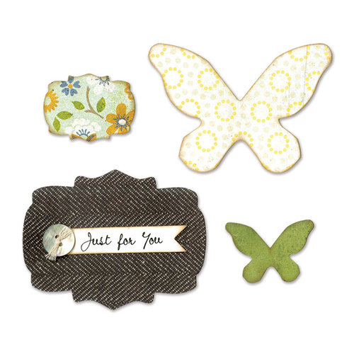 Sizzix - Bigz Die - Butterflies and Labels