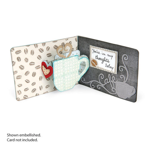 Sizzix - Pop 'n Cuts Magnetic Die - 3-D Pop Up - Mug and Heart