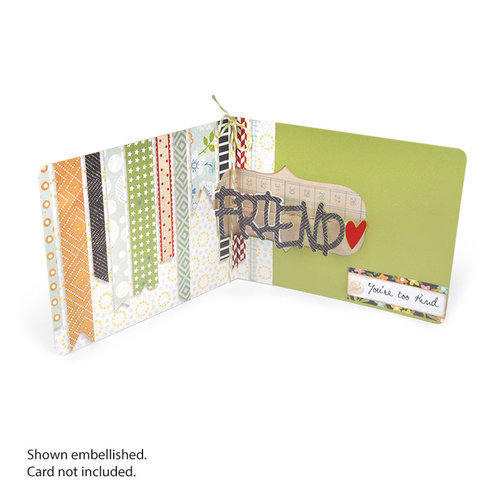 Sizzix - Pop 'n Cuts Magnetic Die - 3-D Pop Up - Phrase, Friend