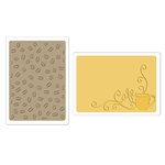 Sizzix - Textured Impressions - Embossing Folders - Coffee Set