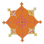 Sizzix - Moroccan Collection - Sizzlits Die - Flower, Arabesque