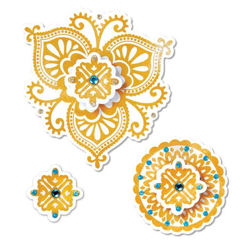 Sizzix - Moroccan Collection - Framelits Die - Moroccan Flowers