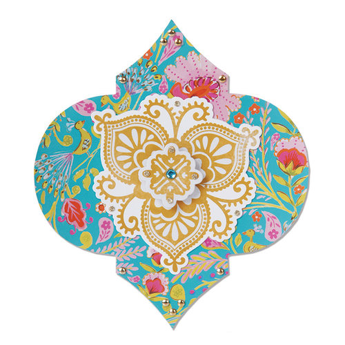Sizzix - Moroccan Collection - Bigz Die - Label, Moorish