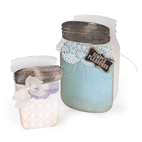 Sizzix - ScoreBoards XL Die - Canning Jars, 3-D