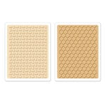 Sizzix - Textured Impressions - Embossing Folders - Basket Weave and Honeycomb Set