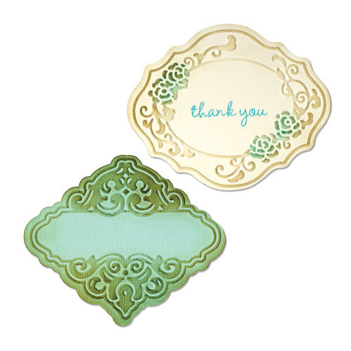 Sizzix - Antique Faire Collection - Bigz Die and Embossing Folder - Labels