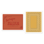 Sizzix - Antique Faire Collection - Textured Impressions - Embossing Folders - Antique Faire and Lace