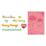Sizzix - Framelits Die and Embossing Folders - Rain or Shine Set