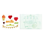 Sizzix - Framelits Die and Textured Impressions - Die Cutting Template and Embossing Folders - Sweet Shoppe Set