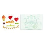 Sizzix - Framelits Die and Embossing Folders - Sweet Shoppe Set