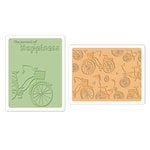 Sizzix - Textured Impressions - Embossing Folders - Bicycles Set