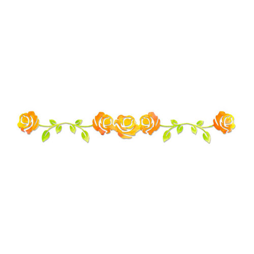 Sizzix - Sizzlits Decorative Strip Die - Rose Vine
