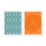 Sizzix - Textured Impressions - Embossing Folders - Doily and Roses Set