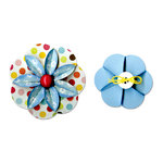 Sizzix - Sizzlits Decorative Strip Die - Flower, Folded