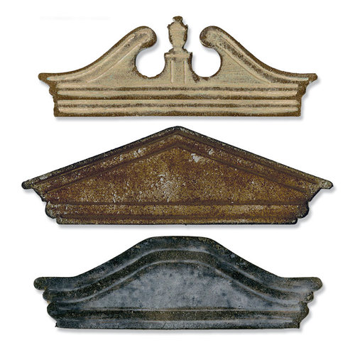 Sizzix - Tim Holtz - Alterations Collection - Bigz Die - Pediments