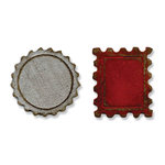 Sizzix - Tim Holtz - Alterations Collection - Movers and Shapers Die - Mini Bottle Cap and Stamp