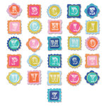 Sizzix - Embellishments - Moroccan Collection - Chipboard Alphabet