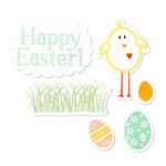 Sizzix - Framelits Die and Clear Acrylic Stamp Set - Easter