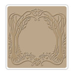 Sizzix - Textured Impressions - Vintaj - 6 x 6 Embossing Folder - Arching Trees Frame