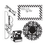 Sizzix - Echo Park - Framelits Die and Clear Acrylic Stamp Set - Everyday Eclectic 2