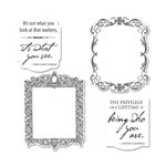 Sizzix - Graphic 45 - Framelits Die and Repositionable Rubber Stamp Set - Frames