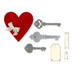 Sizzix - Thinlits Die - Heart, Keys and Tags