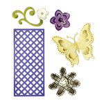 Sizzix - Thinlits Die - Butterfly, Flowers and Lattice