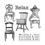 Sizzix - Hampton Art - Framelits Die and Repositionable Rubber Stamp Set - Chairs