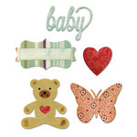 Sizzix - Echo Park - Thinlits Die - Bundle of Joy, Girl
