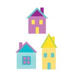 Sizzix - Fabi - Bigz XL Die - Quilting - Village Buildings