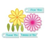 Sizzix Framelits Die and Clear Acrylic Stamps - Flowers and Tags