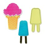 Sizzix Framelits Die and Clear Acrylic Stamps - Ice Cream