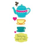Sizzix Framelits Die and Clear Acrylic Stamps - Teapot