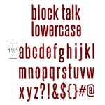 Sizzix - Tim Holtz - Alterations Collection - Bigz XL Alphabet Die - Block Talk Lowercase