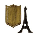 Sizzix - Tim Holtz - Alterations Collection - Movers and Shapers Magnetic Die - Mini Eiffel Tower and Shield