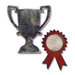 Sizzix - Tim Holtz - Alterations Collection - Movers and Shapers Magnetic Die - Mini Trophy and Prize Ribbon