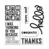 Sizzix - KI Memories - Framelits Die and Clear Acrylic Stamps - Casual Greetings