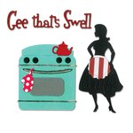 Sizzix - 1950s Collection - Thinlits Die - Gee, That's Swell Kitchen