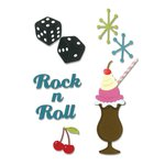 Sizzix - 1950s Collection - Thinlits Die - Rock 'n Roll Sundae