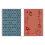 Sizzix - 1950s Collection - Textured Impressions - Embossing Folders - Retro 1950s Set