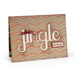 Sizzix - Winter Collection - Christmas - Thinlits Die - Card with Jingle Cut-Out