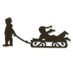 Sizzix - Winter Collection - Christmas - Originals Die - Kids and Sled