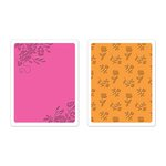 Sizzix - Favorite Things Collection - Textured Impressions - Embossing Folders - Border Blooms and Garden Roses Set
