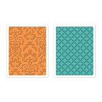 Sizzix - Favorite Things Collection - Textured Impressions - Embossing Folders - Chateau Damask and Veranda Set