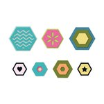 Sizzix - Triplits Die - Hexagon
