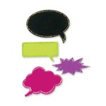Sizzix - Modern Surrealist Collection - Originals Die - Thought Talk Bubbles