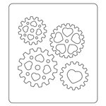 Sizzix - Prima - Flora Grande Collection - Bigz Die - Love Gears