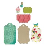 Sizzix - Thinlits Die and Textured Impressions - Embossed Gift Tags